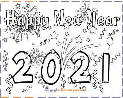 New Years 2021 Coloring Page For Kids Free Printable Coloring Pages For Kids New Year Coloring Pages Free Printable Coloring Pages Printable Coloring Pages