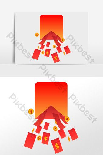 Double Eleven Promotion Gold Coin Red Envelope Rain Png Images Ai Free Download Pikbest Png Images Red Envelope Gold Coins