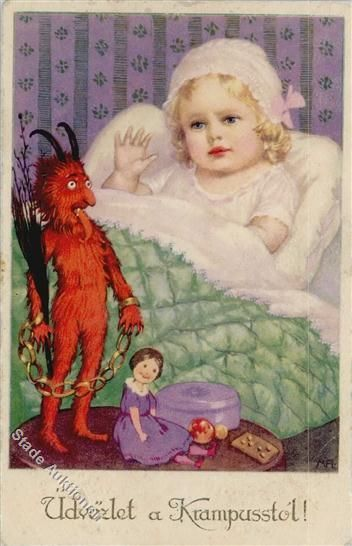 Vintage Krampus   Vintage Postcards Pocztówki STARE Cartes Postales