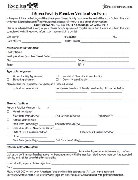 11 best Health Insurance Forms for Fitness Reimbursement images on - verification form