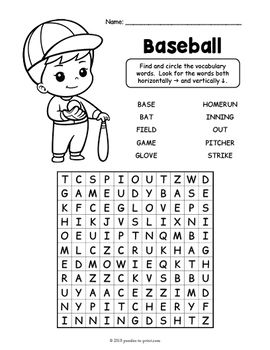 Physical Education Word Search Packet Physical Education Education Vocabulary Worksheets