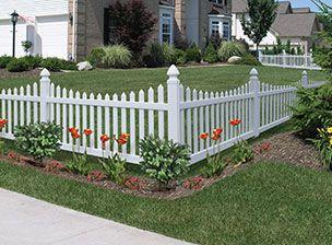 Vinyl Fencing Decorative Fence Primrose Scallop Activeyards Vinyl Fence Fence Outdoor