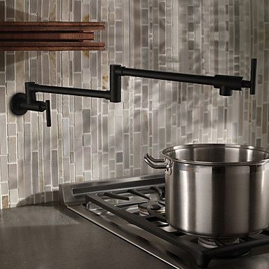 104 49 Kitchen Faucet Two Handles One Hole Oil Rubbed Bronze