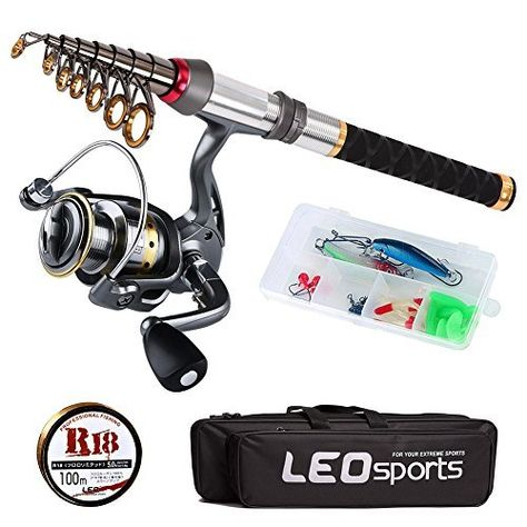 Walsilk Spinning Fishing Rod and Reel Combo Full Kit,Bonus 1