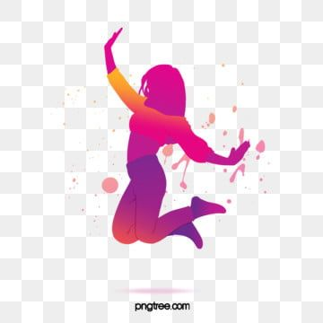 Youthful Dancing Girl Watercolor Silhouette Dance Clipart Girl Gradient Png Transparent Clipart Image And Psd File For Free Download In 2021 Dance Silhouette Dancing Clipart Dance Background