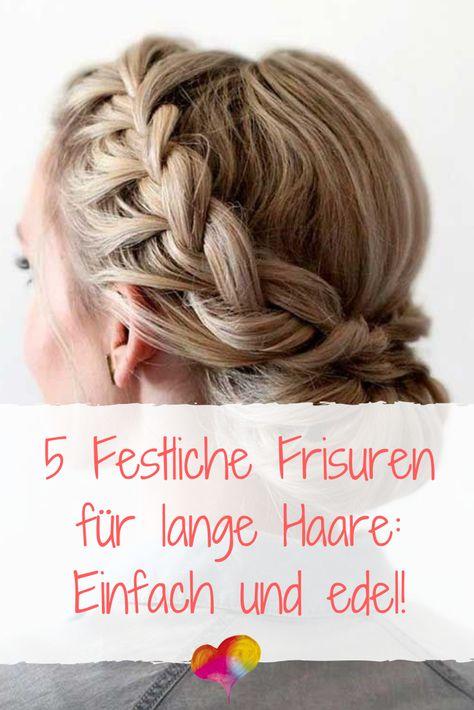 Einfache Festliche Frisuren Halblange Haare