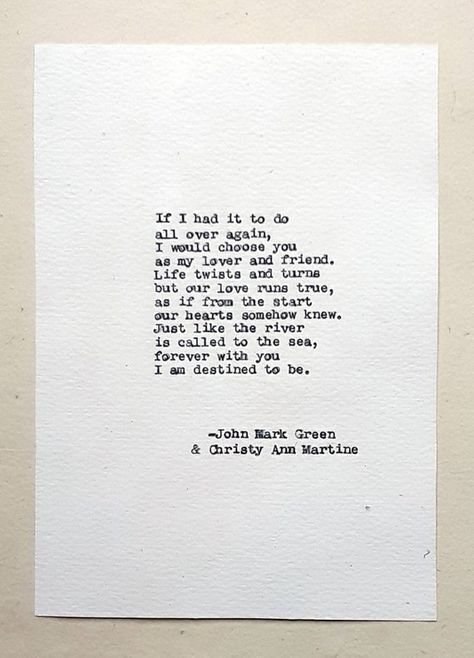 Lover and Friend Poem Typed with Vintage Typewriter (Frame Not Included) ~~~~~~~~ Hi, I'm Christy, a writer, and poet. I've written all of the poems you see in my shop. I wrote this love poem with my partner in poetry and life, poet John Mark Green. ~~~~~~~~ Key features: • Hand