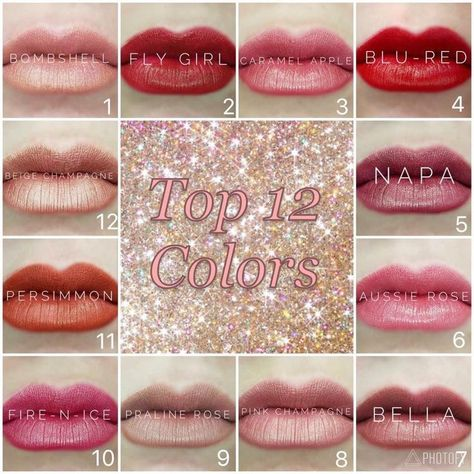 Top 12 lipsense colors and of course I own them all.   Lipsense | lipsense color... - #color #Colors #LipSense #Top