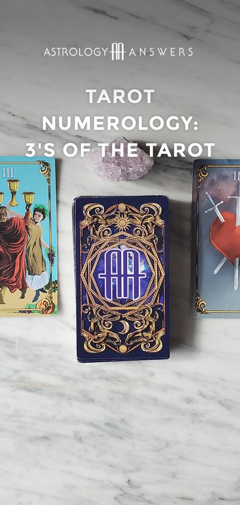 Three's a crowd! Dive deeper into Tarot numerology and the meaning of the 3's in Tarot will be revealed! #tarot #tarotnumerology #numerology #tarotmeanings