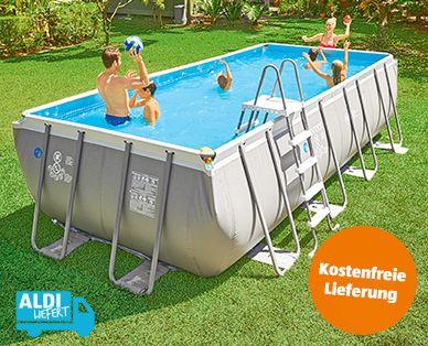 Aldi Sud Intex Frame Pool Set Ultra Quadra1 Pool Ideen Diy
