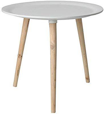 Retro Beistelltisch Rund 48 Cm Weiss Holz Tisch Couchtisch Nachttisch Sofatisch Amazon De Kuche Haushalt Beistelltisch Rund Holztisch Weiss Sofa Tisch