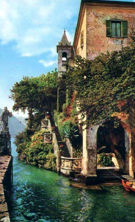 Villa Balbianello on Lake Como in Lenno, northern Italy • original source not found