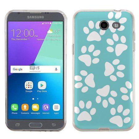 Slim Case For Samsung Galaxy J3 Mission Sol 2 4g Onetoughshield Premium Tpu Gel Fitted Phone Case Pet Paw Teal Walmart Com Fundas