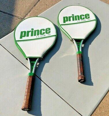 2 Prince Classic 110 Aluminum Tennis Racquets 4 In 2020 Racquets Tennis Tennis Racquets