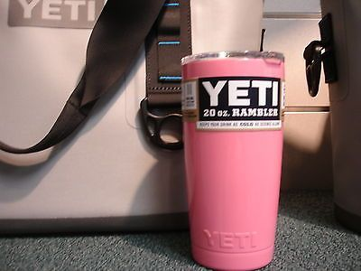 bbefddd7789 BRAND NEW-> PINK YETI 20oz RAMBLERS PROFESSIONAL POWDER COATED STAINLESS CUP