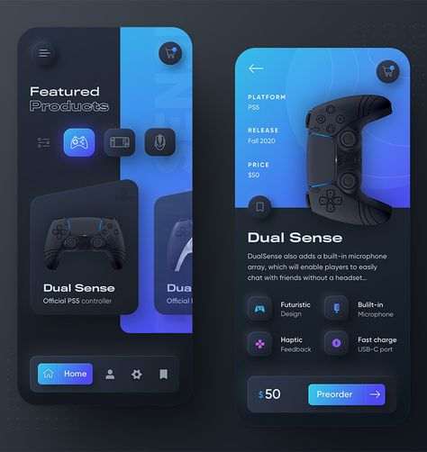 PlayStation Console App UI