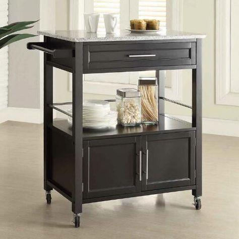 Granite Top Thea Kitchen Cart World Market Apartment Furniture