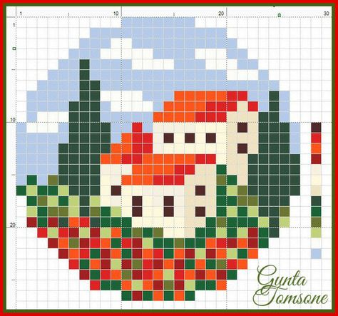 MINECRAFT PIXEL ART – One of the most convenient methods to obtain your imaginative juices flowing in Minecraft is pixel art. Pixel art makes use of various blocks in Minecraft to develop pic… Tiny Cross Stitch, Cross Stitch House, Cross Stitch Designs, Cross Stitch Patterns, Pixel Pattern, Pattern Art, Free Pattern, Cross Stitching, Cross Stitch Embroidery