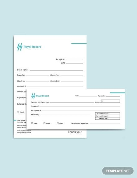 Royal Resort Receipt Template Free Pdf Word Excel Psd Indesign Apple Pages Illustrator Publisher Apple Numbers Receipt Template Royal Resort Templates