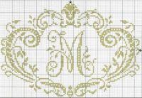 Monogramms- cross-stitch patterns | Free Cross-stitch patterns