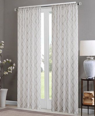 Madison Park Irina 50 X 84 Sheer Rod Pocket Curtain Panel
