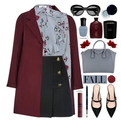 A fashion look from October 2017 featuring Valentino blouses, Yves Saint Laurent mini skirts and Givenchy handbags. Browse and shop related looks.