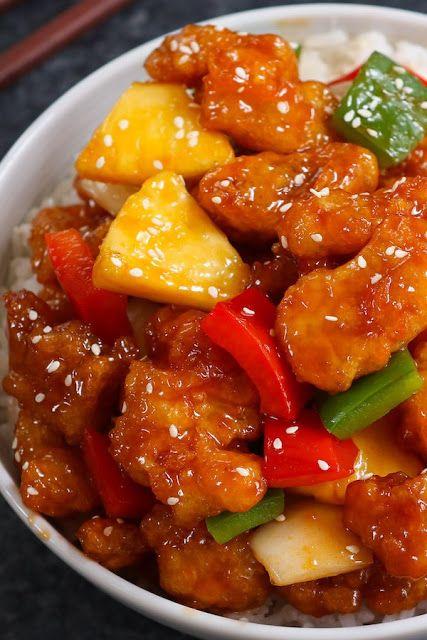 Resep Ayam Saus Asam Manis : resep, manis, Resep, Goreng, Manis, Restoran, Resep,, Ayam,, Makanan