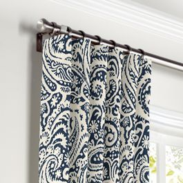 Convertible Drapery Paisley Curtains Blue Curtains Living Room Blue Window Curtains