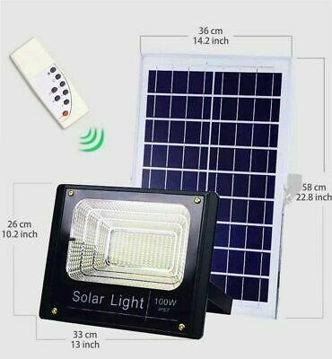 Ad Ebay Url Hot 100w Solar Powered Street Flood Lights Outdoor Remote Control Security Light Solar Flood Lights Flood Lights Security Lights