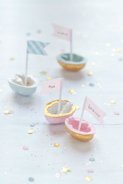 Fiche créative: Marque-places coquilles de noix !