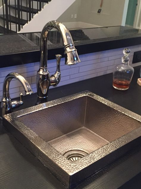 Manhattan Rectangular Copper Drop In Bar Sink Sinks For Sale Sink Bar Sink