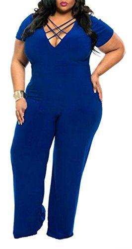 HTOOHTOOH Women Fashion Short Sleeve Romper Wrap Front V Neck Solid Shorts Jumpsuit