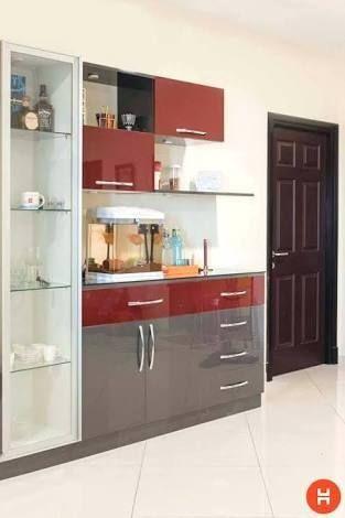40 Affordable Cabinet Designs Ideas For Dining Room Crockery Cabinet Design Crockery Unit Design Kitchen Furniture Design