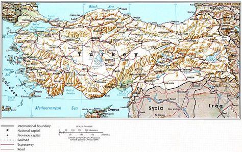 Turqia Harta Gjeografike Te Turqise Turkey Em 2019