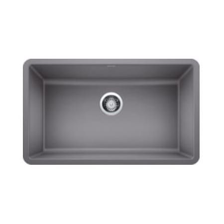 Metallic Gray Precis 30 Undermount Single Basin Granite Composite