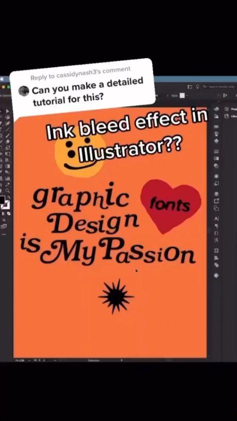 Ink Bleed in Illustrator Tutorial!