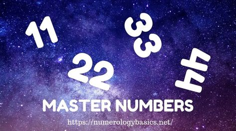 There are 4 numbers to pay extra-special attention to 11, 22, 33 and 44 — these are known as #Masternumbers But what makes Master numbers so masterful? #numerology #numerologybasics