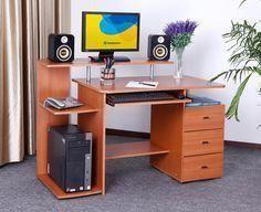 Modern Computer Desk Computerdesk Tableideas Pc Office Hobbydesk Dengan Gambar Desain Furnitur Desain Meja Kerja