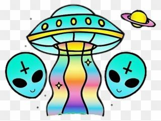 Alien Ovni Cool Rainbow Girl Tumblr Sticker Freetoedit Stickers Tumblr Alien Clipart Rainbow Cartoon Cartoons Png Transparent Stickers