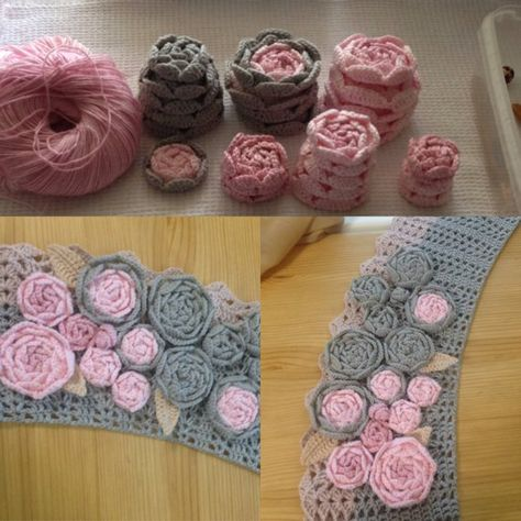 DIY Kit to create Irish crochet Set flower Сrochet flower Flower design Flower applique Crochet jewelry Flower necklace Crochet collar Set includes -10pcs of flowers. Size 1,20 - 2,40 (3 to 6 cm). I crochet flower sets for those buyers who want to independently create clothes from Irish