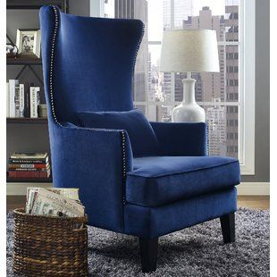 Arm Chairs For Tall Person | Wayfair | High Back Accent Chairs, Blue Accent Chairs, Wingback Chair