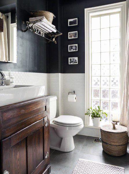 Brown And White Bathroom Ideas Awesome Top 60 Best Half Bath Ideas Unique Bathroom Designs Small Bathroom Remodel Bathrooms Remodel Small Bathroom