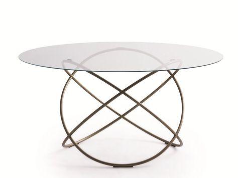 Tavolo Rotondo Vetro Design.Tavolo Da Salotto Rotondo In Cristallo Sfera Tavolo Molteni
