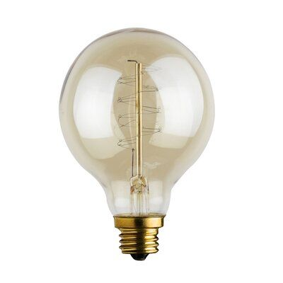 Urbanest Urbanest Spiral Loop Round Vintage Edison Bulb E12 Medium Base 60 Watt 4 3 4 Inch Long Bulb Dimmable Light Bulbs Outdoor Barn Lighting Barn Lighting