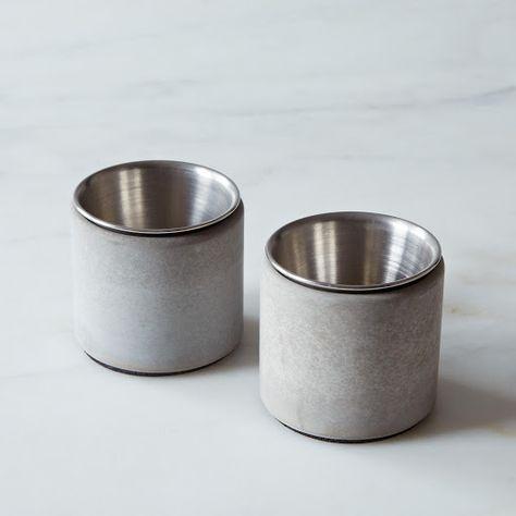 Kreteware Concrete Condiment Cup Holder