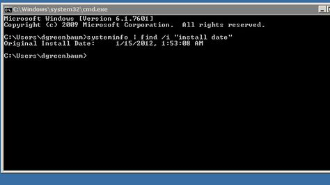 If you're curious how old your computer is (or when you last did a clean install), this command line utility that can tell you when Windows was installed.