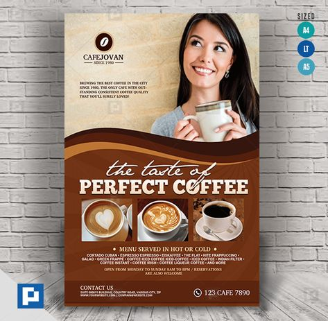 Coffee and Resto shop flyer - PSDPixel