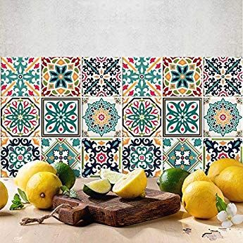 72 Pieces Carrelage Adhesif 10x10 Cm Ps00116 Malaga Adhesive Decorative A Carreaux Pour Carrelage Adhesif Adhesif Carreaux De Ciment Stickers Carrelage
