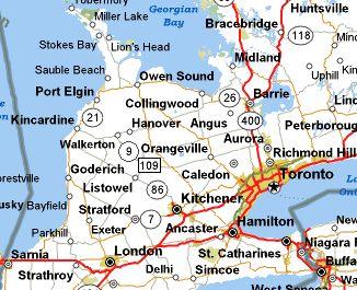 maps of london ontario canada  ALGONQUIN PARK SOUTH Huntsville