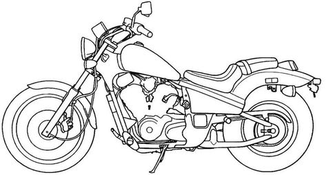 Printable Motorcycle In 2020 Harley Davidson Images Motorcycle